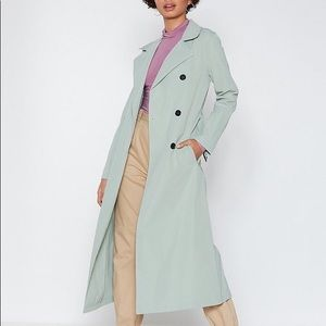 Nasty Gal Trench Coat in Sage—NWT